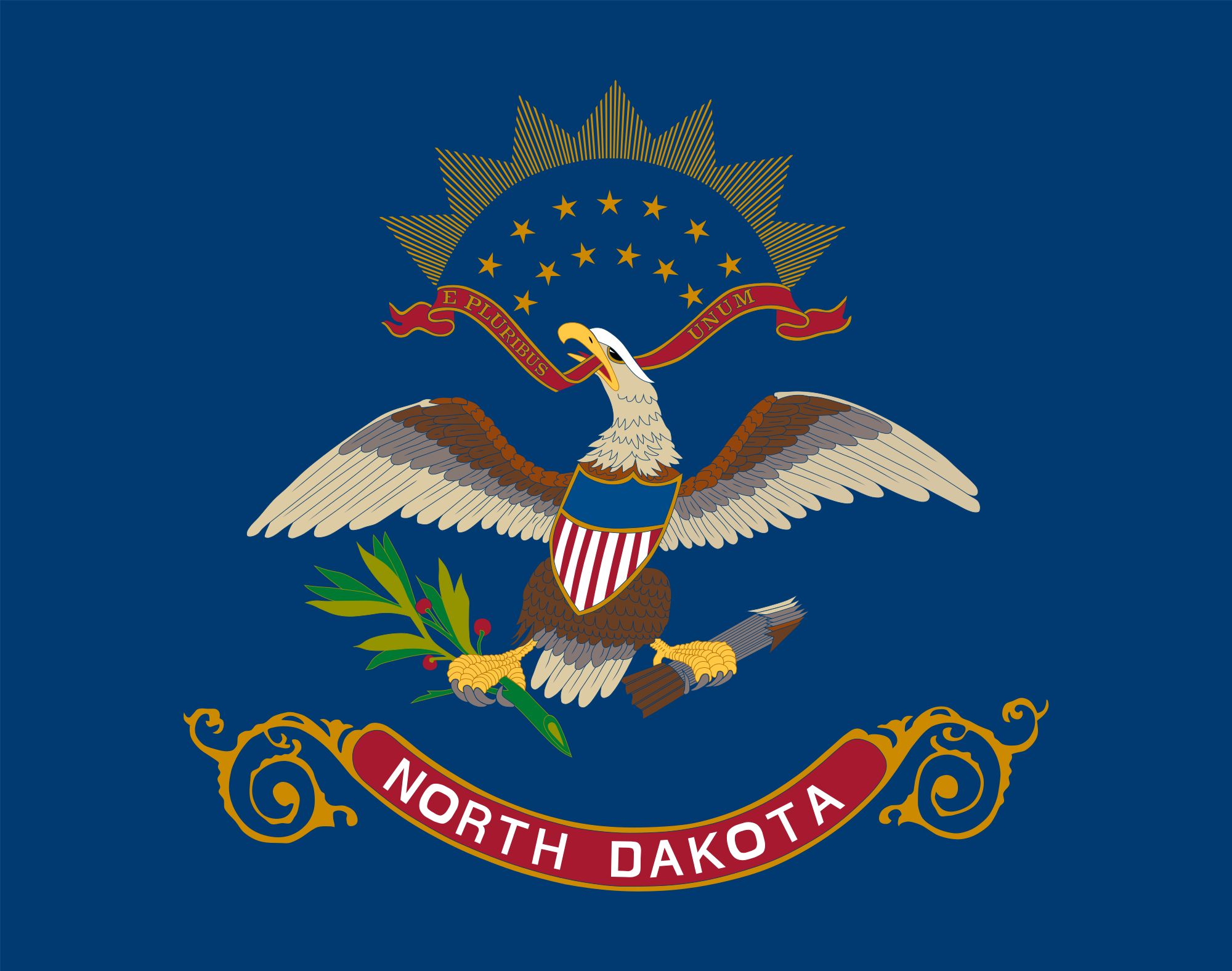 File North Dakota state flag Wikimedia mons