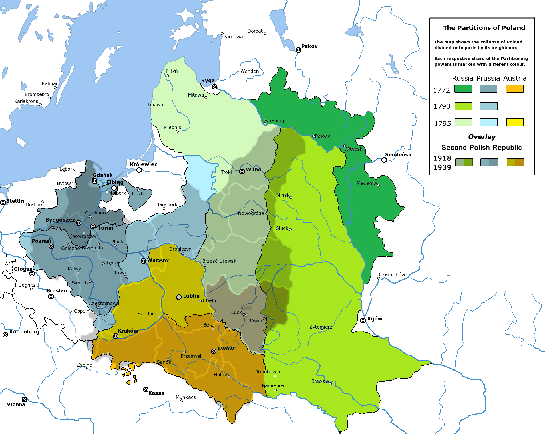 File:Partitioned Poland & the 2nd Republic (1772-1939).png