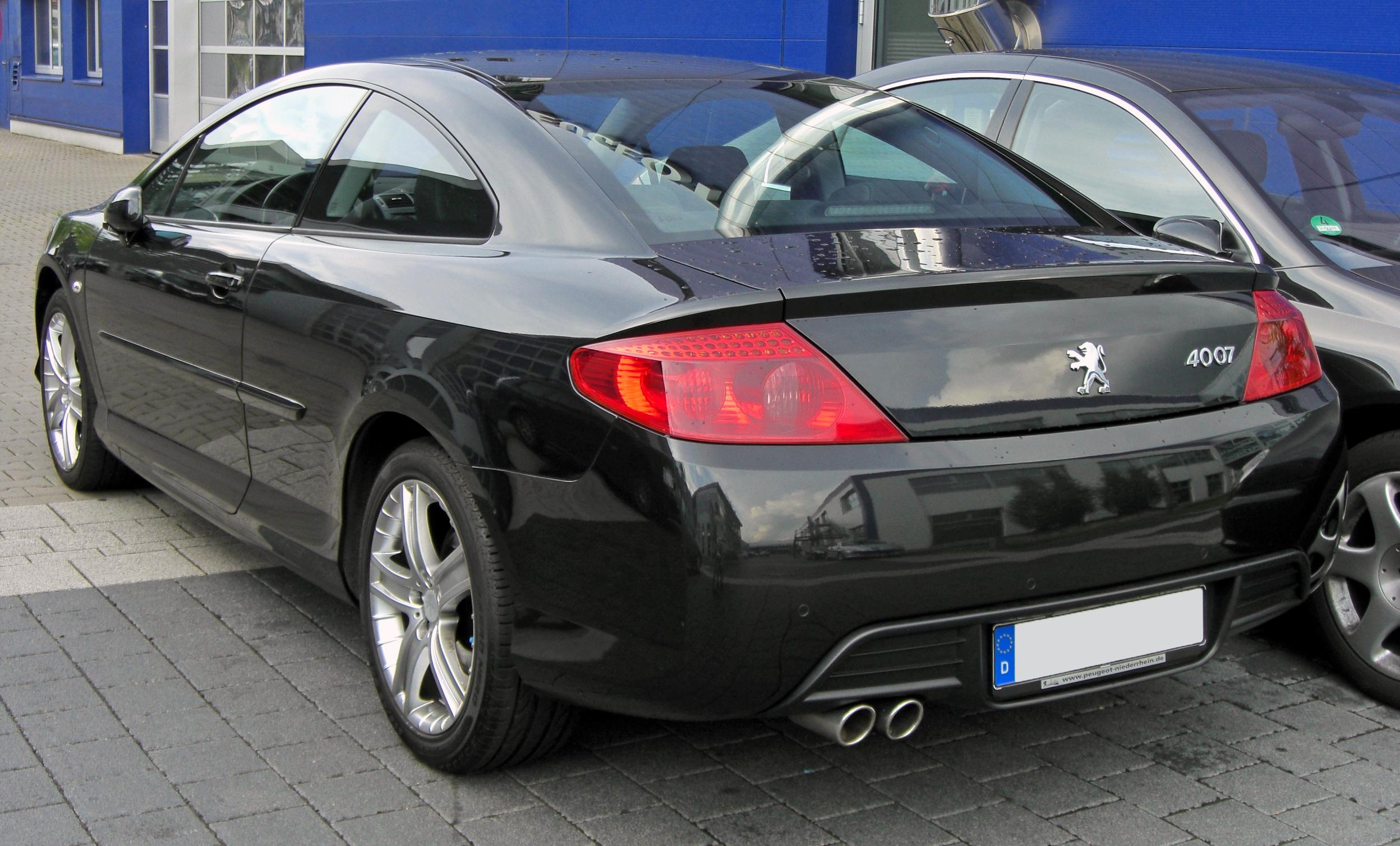 File:Peugeot 407 Coupé 20090706 rear.JPG
