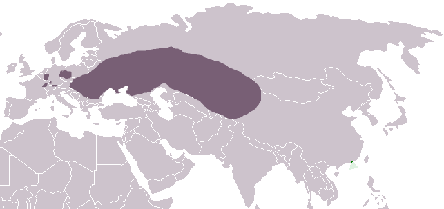 Répartition hamster d'europe