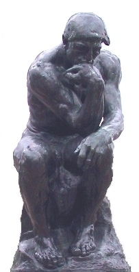 Auguste Rodin's statue of The Thinker