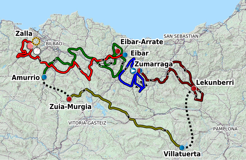 Tour Of The Basque Country  Route