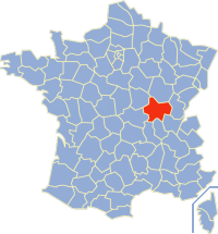 索恩-卢瓦尔省在法国的位置
