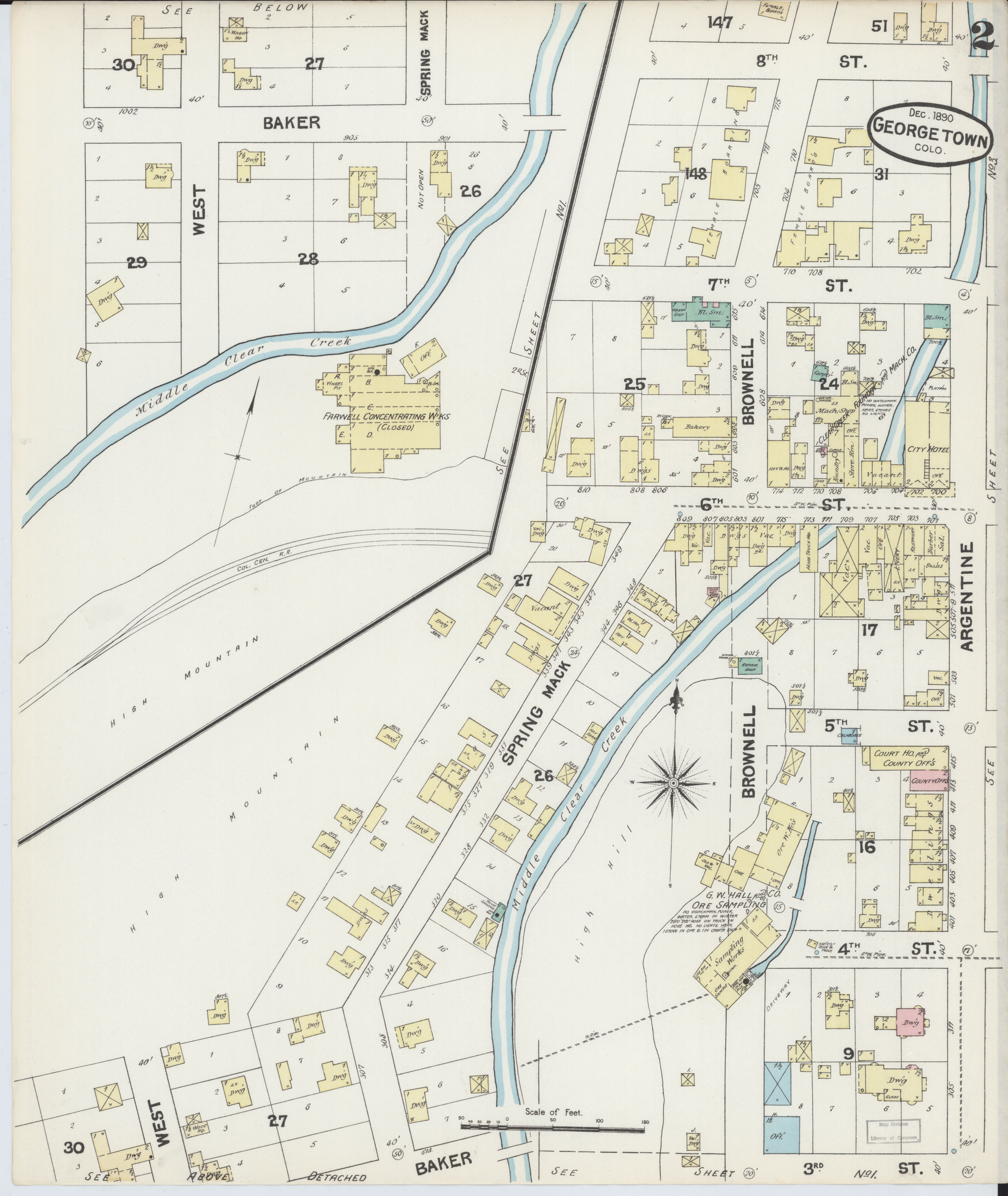 File Sanborn Fire Insurance Map From Georgetown Clear Creek County