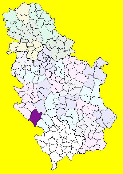 sjenica mapa srbije Sjenica (općina)   Wikipedia sjenica mapa srbije