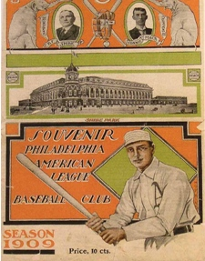 A/'s Great and Hall of Famer Frank Home Run Baker and First Day Cover of Shibe Park stamp