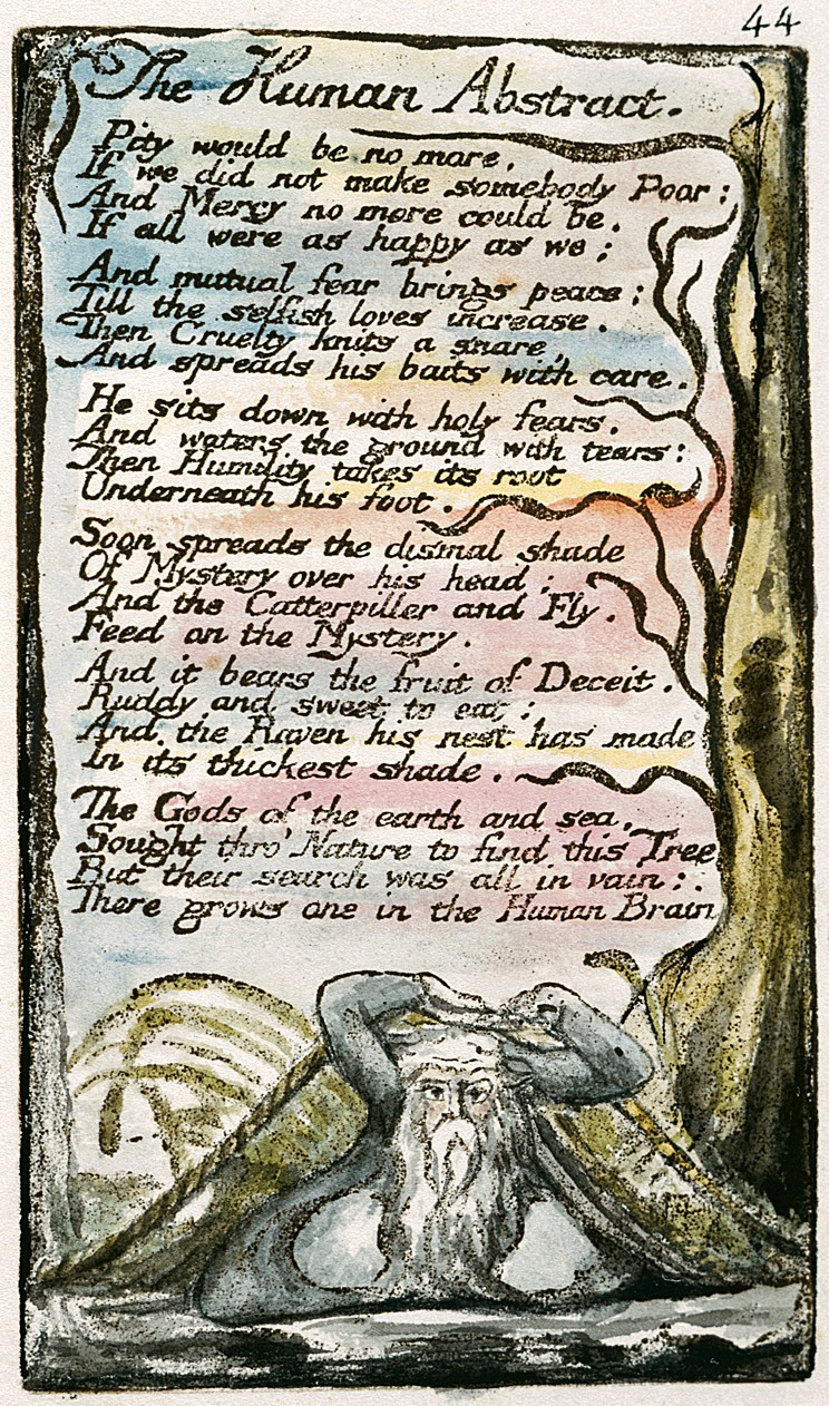 The Romantic poets: The Human Image and The Divine Image by William Blake