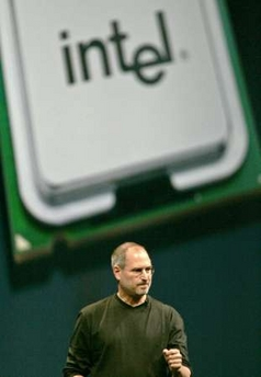 Steve Jobs talks about the transition to Intel processors.