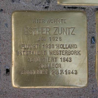 Stolperstein für Esther Zuntz