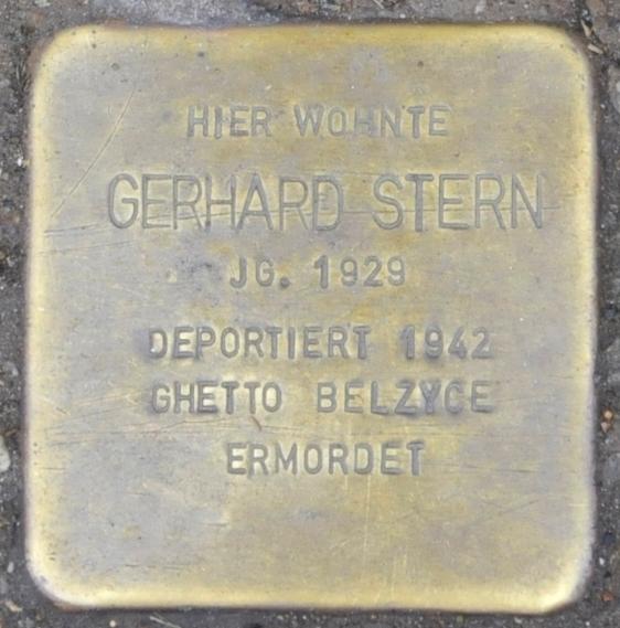 File:Stolperstein Georgenstraße 25, Eisenach-Gerhard Stern-CTH.JPG
