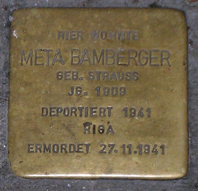 Stolpersteine in Karlstadt Meta Bamberger.JPG
