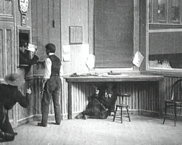 Der grosse Bahnraub, Szenenfoto 1903, Quelle: WikiCommons