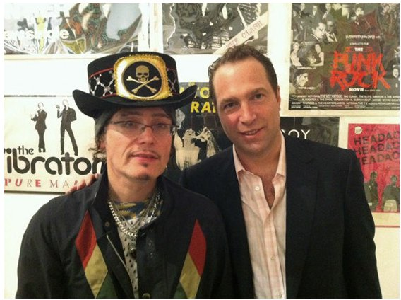 Toby Mott and Adam Ant