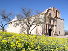 Mission San José de Tumacácori historic mission ruins in Arizona, USA