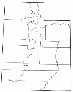 Location of Marysvale, Utah
