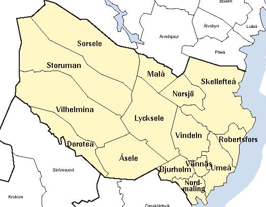 västerbotten karta Västerbottens län – Wikipedia västerbotten karta