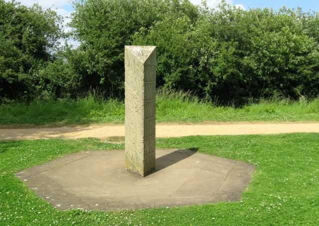 VE Day anniversary memorial stone in Milton County Park - geograph.org.uk - 863624