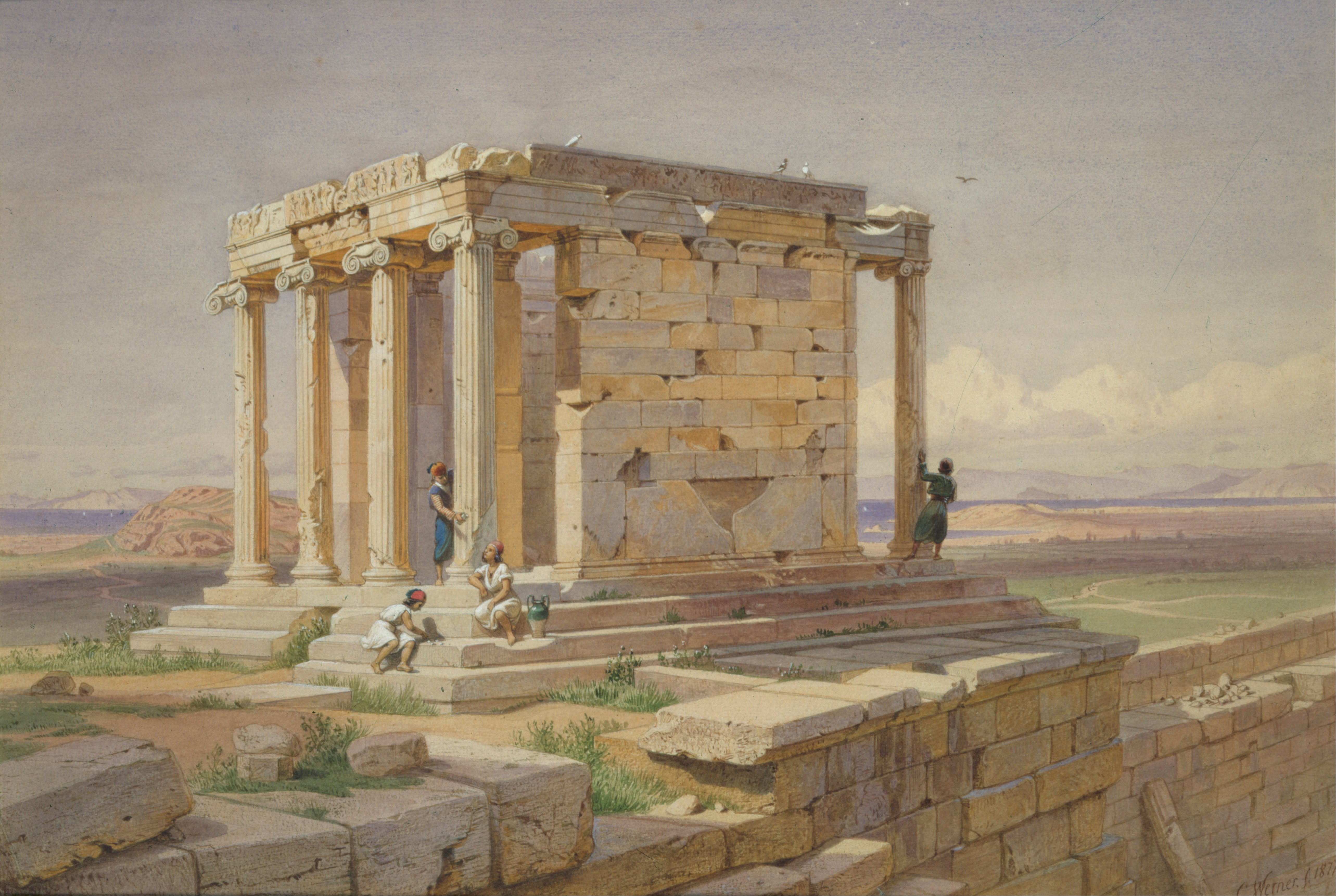 File:Werner Carl-Friedrich - The Temple of Athena Nike ...