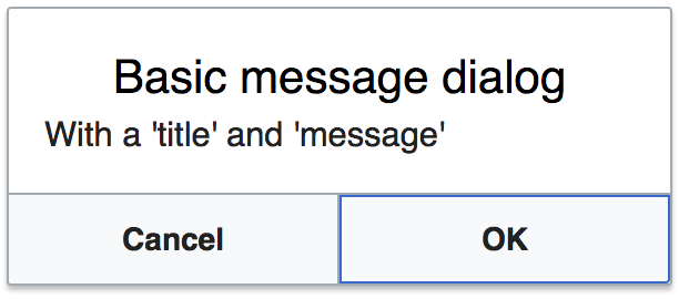 An example of a MessageDialog