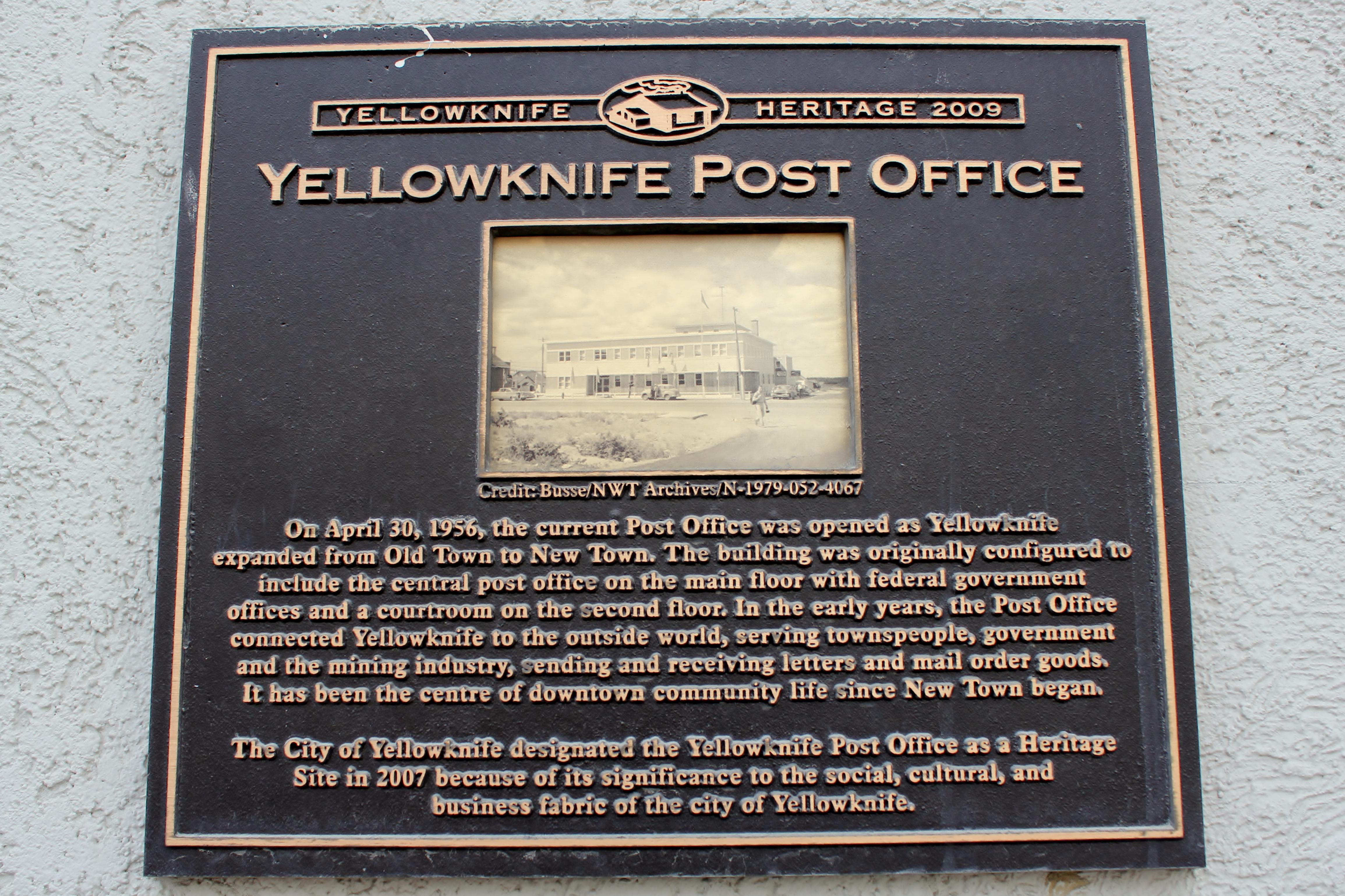 File:Yellowknife Post Office (plaque).JPG