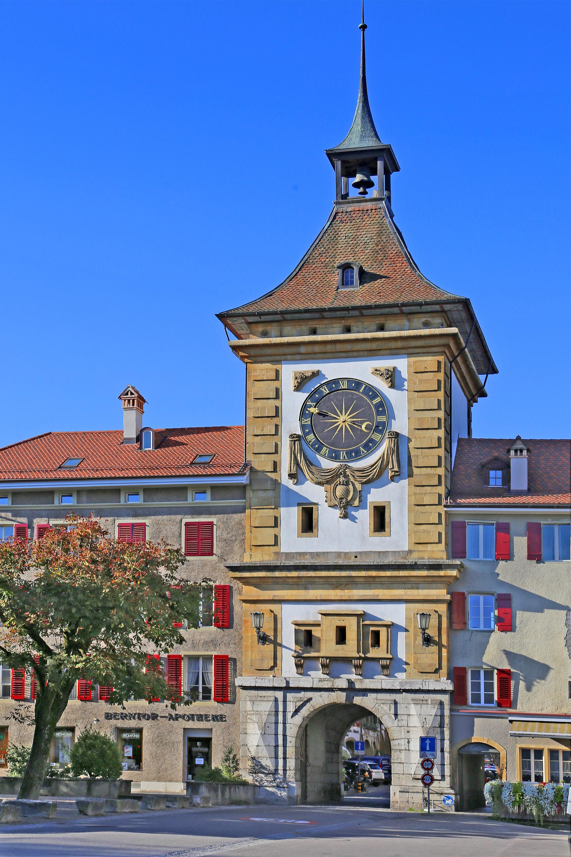 File:00 0556 Berntor (Stadtmauer) in Murten - (Schweiz, Kanton ...