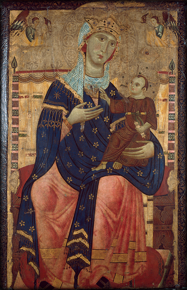 Painters madonna enthroned with the christ child wga23873
