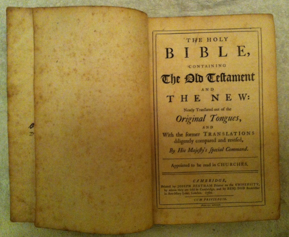 File:1760 Cambridge Edition King James Bible png - Wikimedia Commons