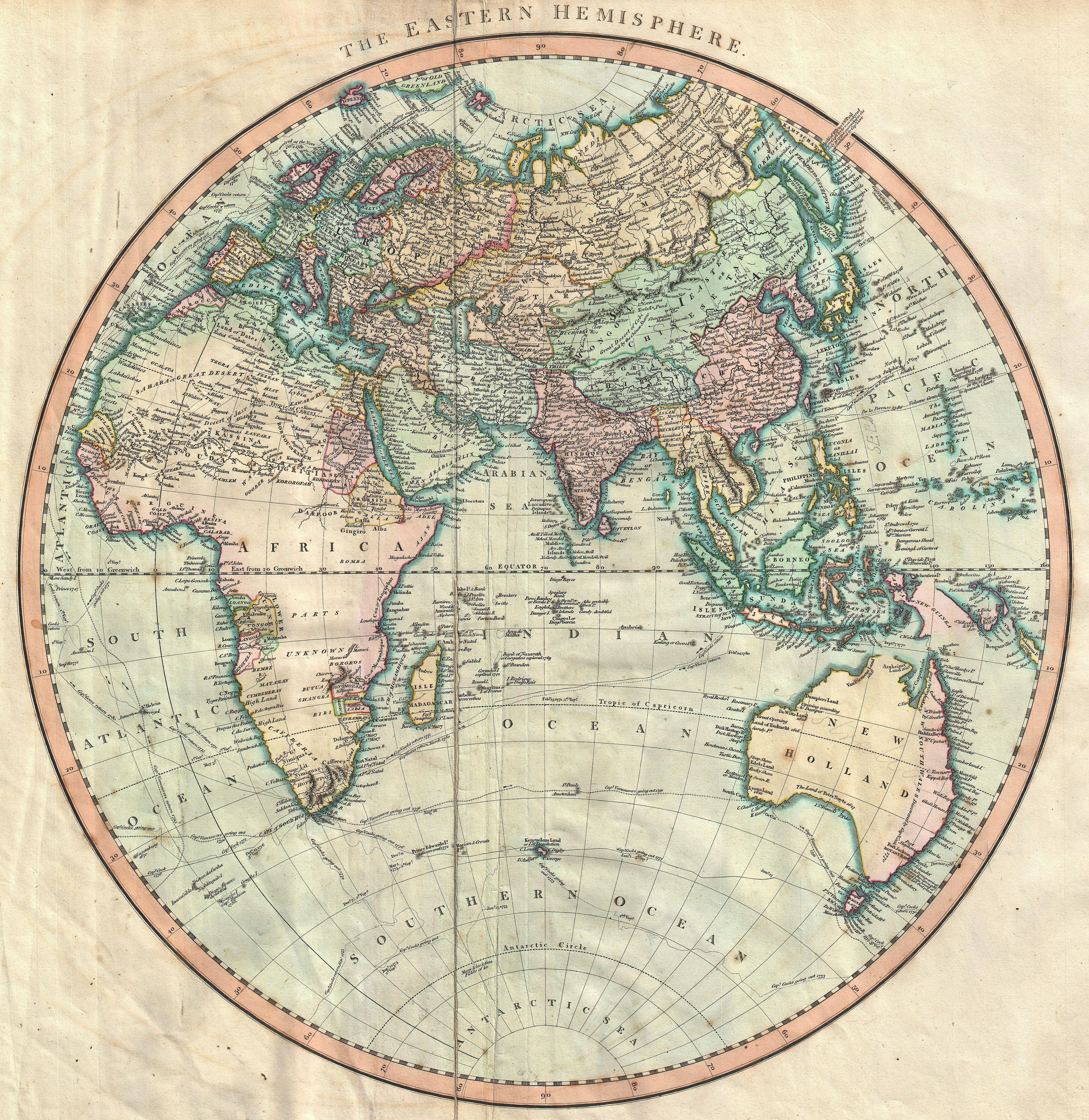 File:1801 Cary Map Of The Eastern Hemisphere ( Asia, Africa, Australia )