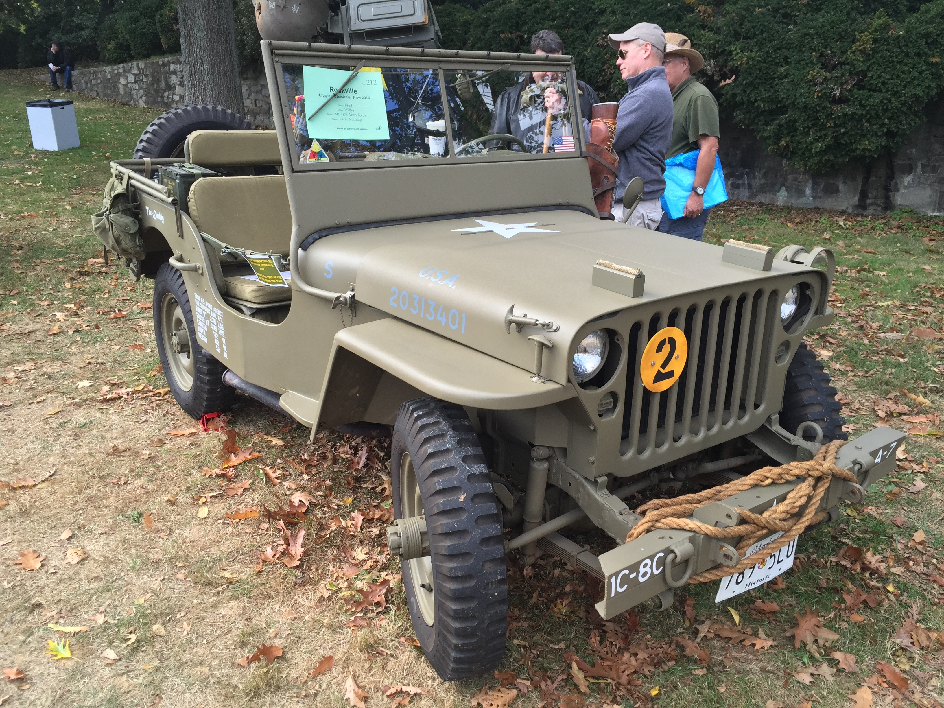 1943 willys mb us army jeep at 2015 rockville show 1of3 jpg