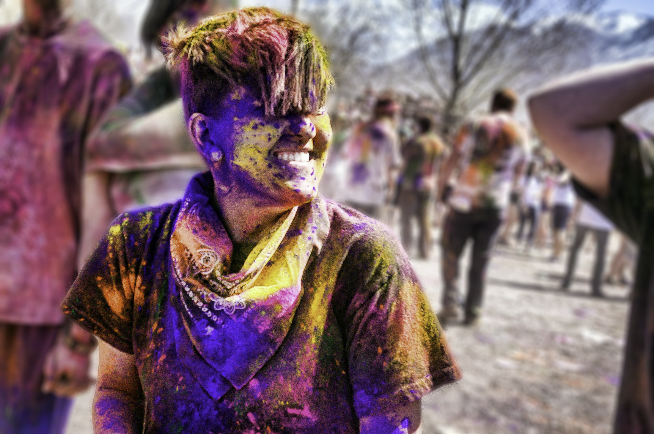 File:A colored face after Holi Festival of Colors in Utah ...