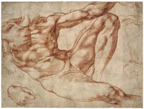 Ficheiro:Adam study - Michelangelo.jpg