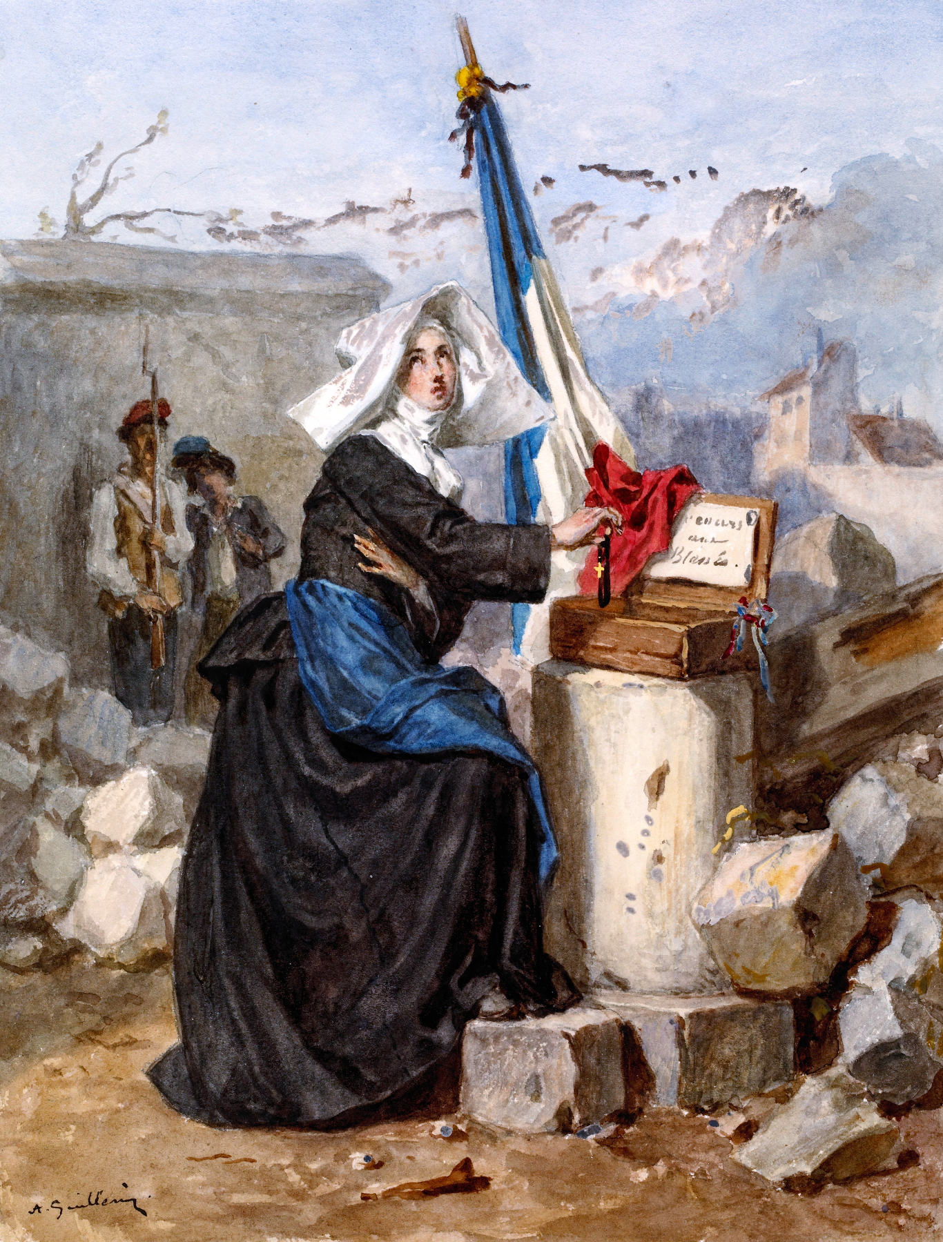 ''Aid for the Wounded (Sister of Charity)'', by [[Alexandre-Marie Guillemin