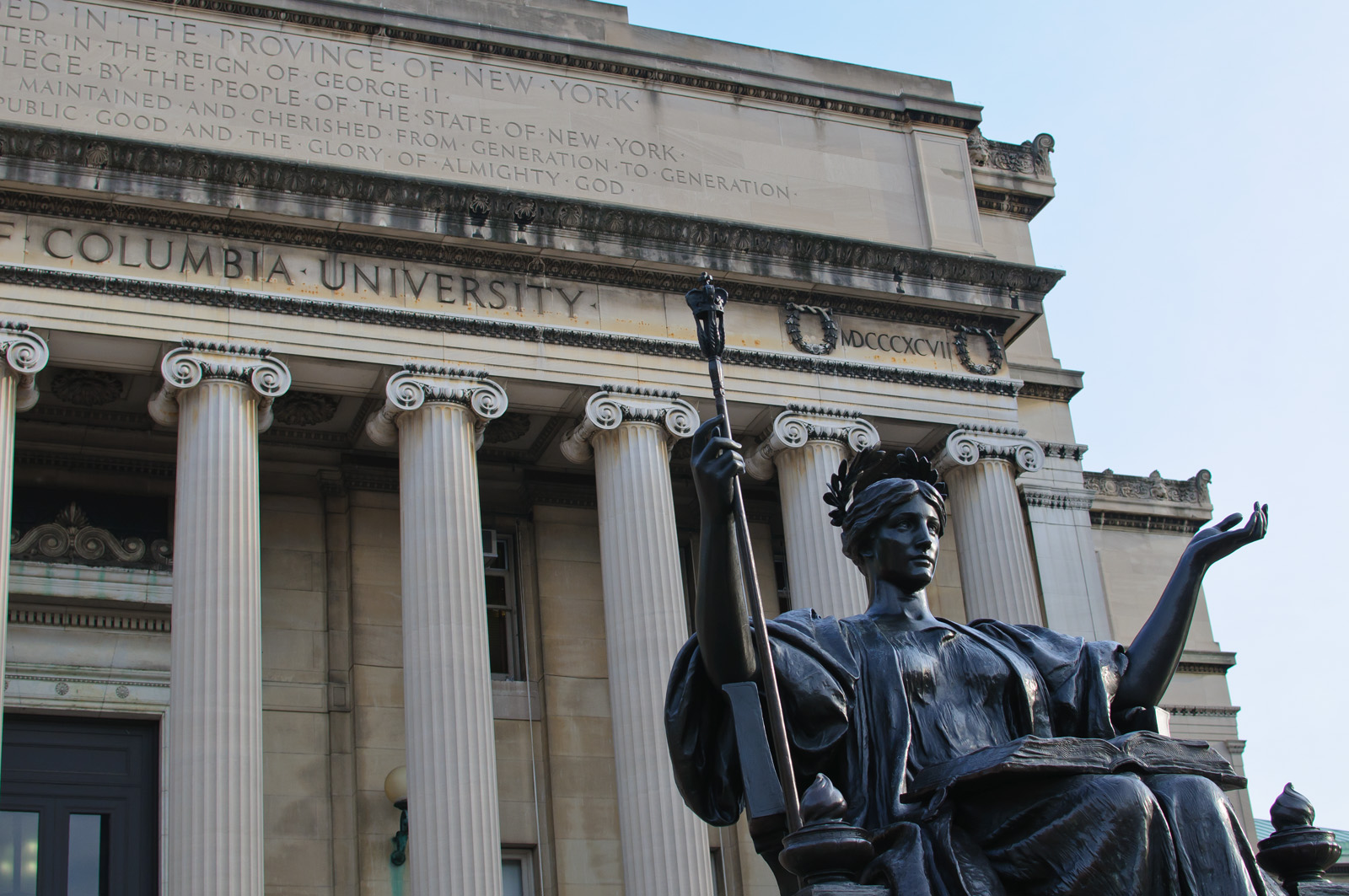 Image result for columbia university athena statue
