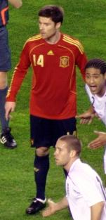 Alonso playing for Spain