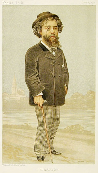 Daudet by Guth, 1893 Alphonse Daudet Vanity Fair 11 March 1893.jpg