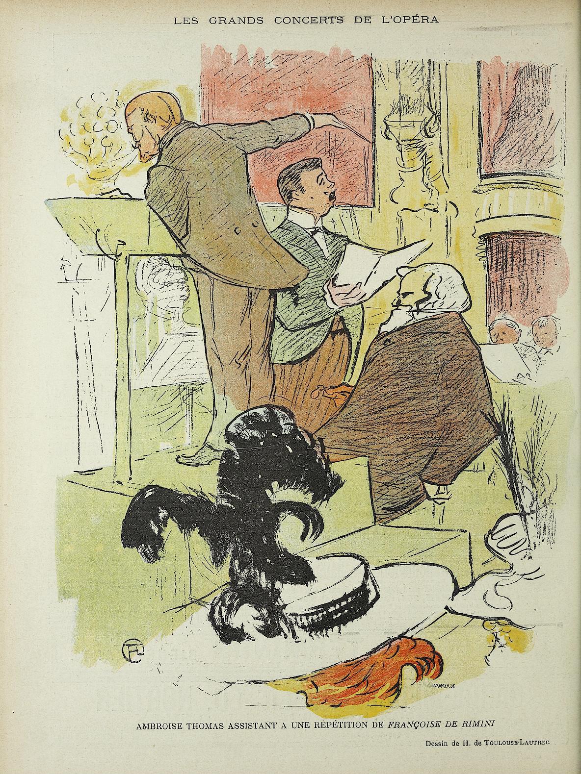 File Ambroise Thomas By Toulouse Lautrec Jpg Wikimedia