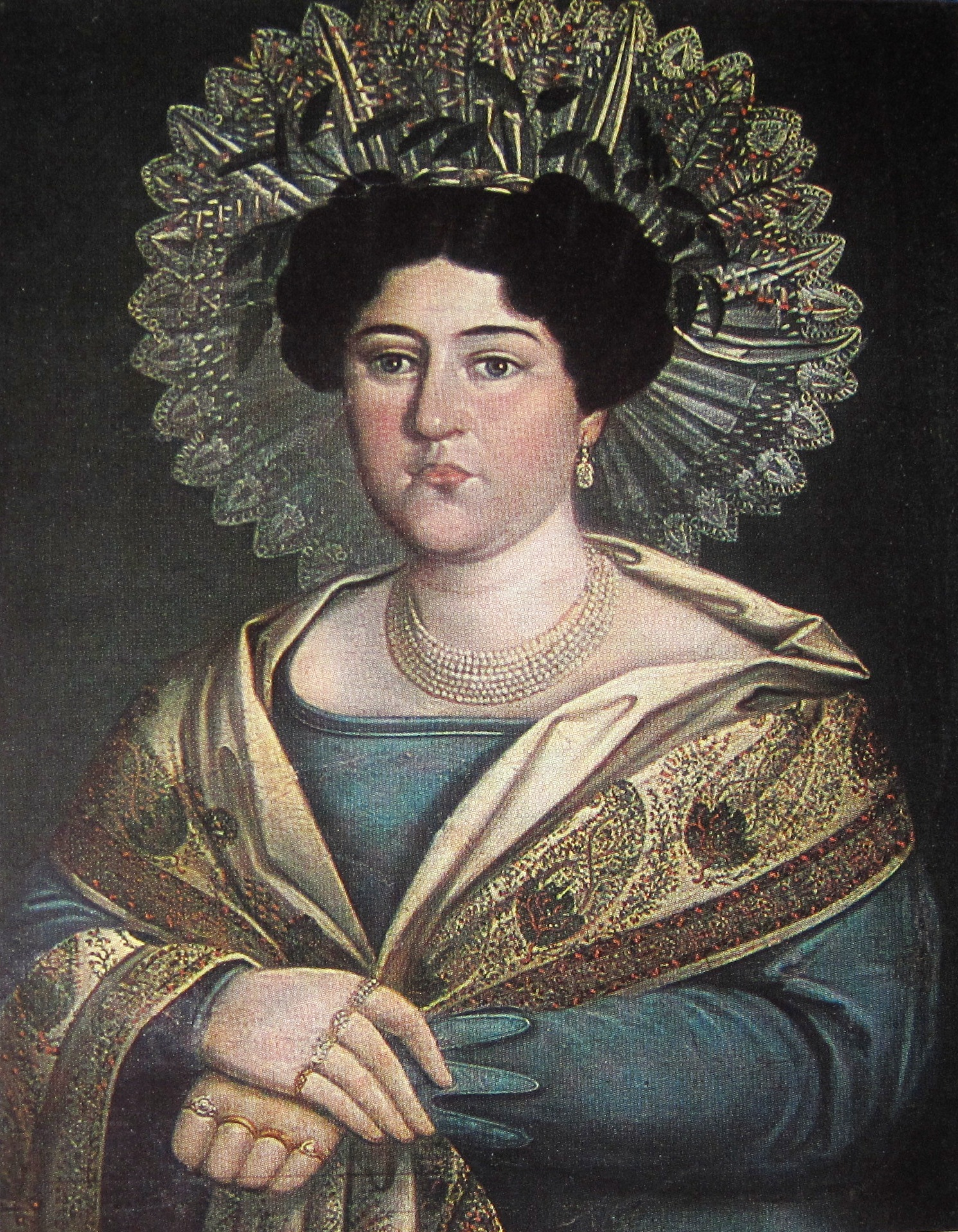 Anonym. portrait of a russian woman. art museum, tbilisi, georgia