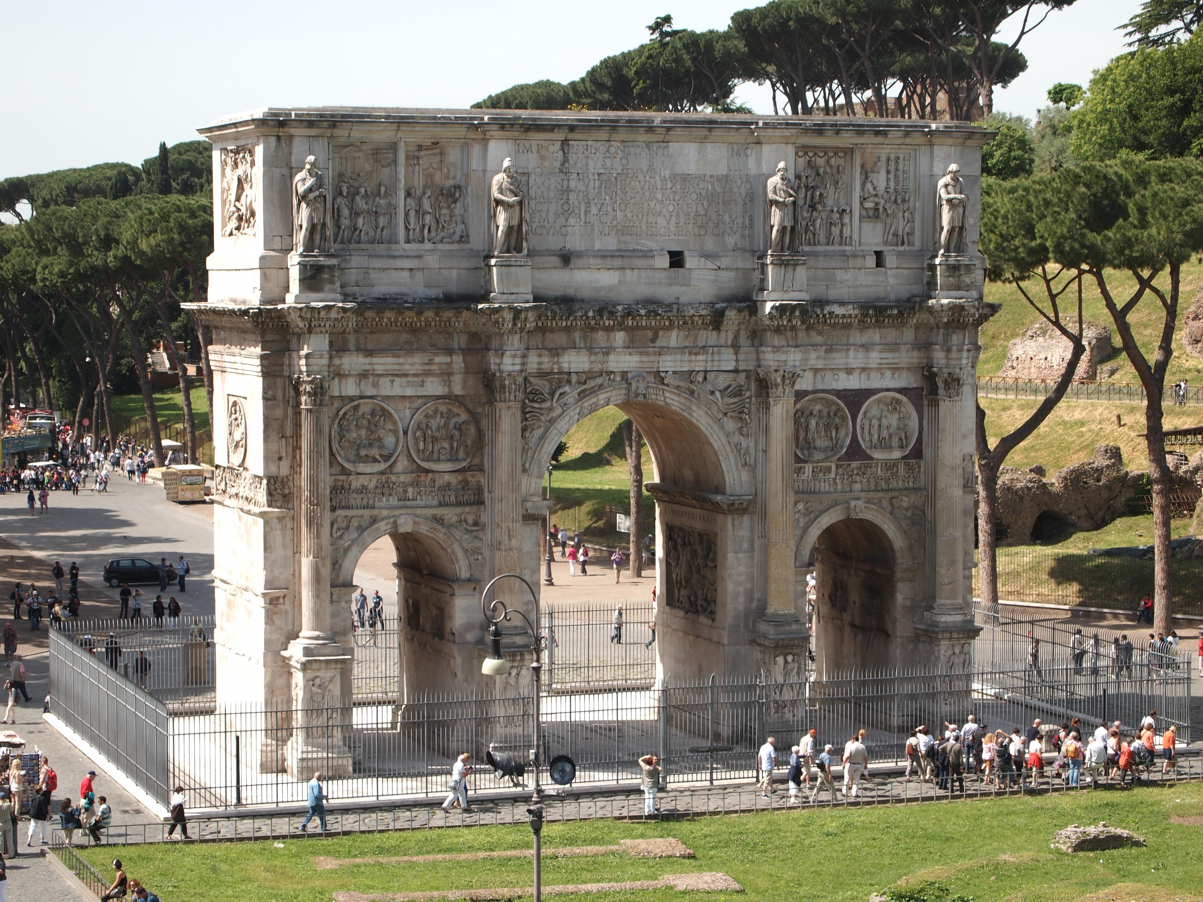 Триумфальная арка Константина Колизей Рим скачать