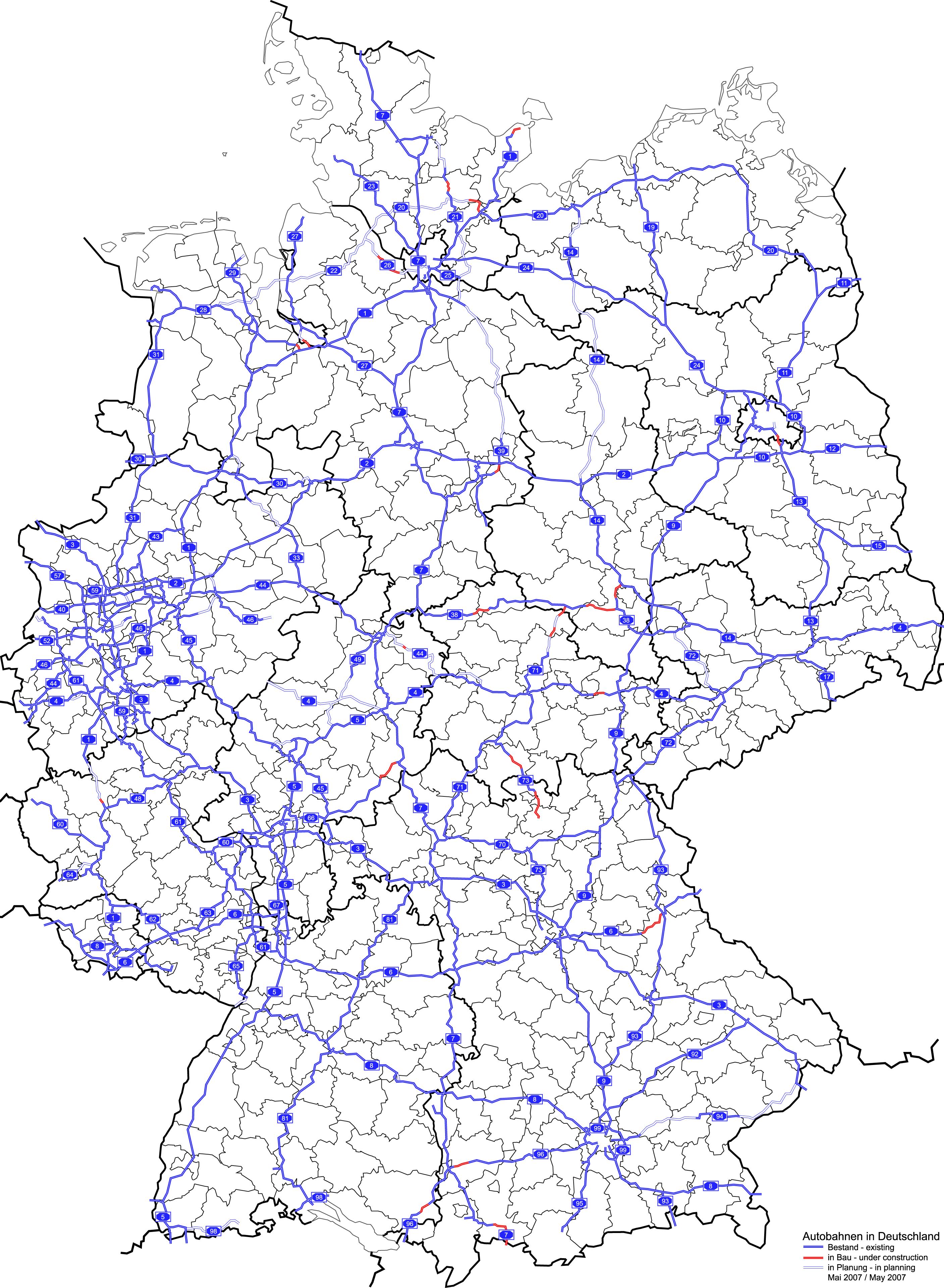 File:Autobahnen in D mit Landkreisgrenzen.png - Wikimedia ...