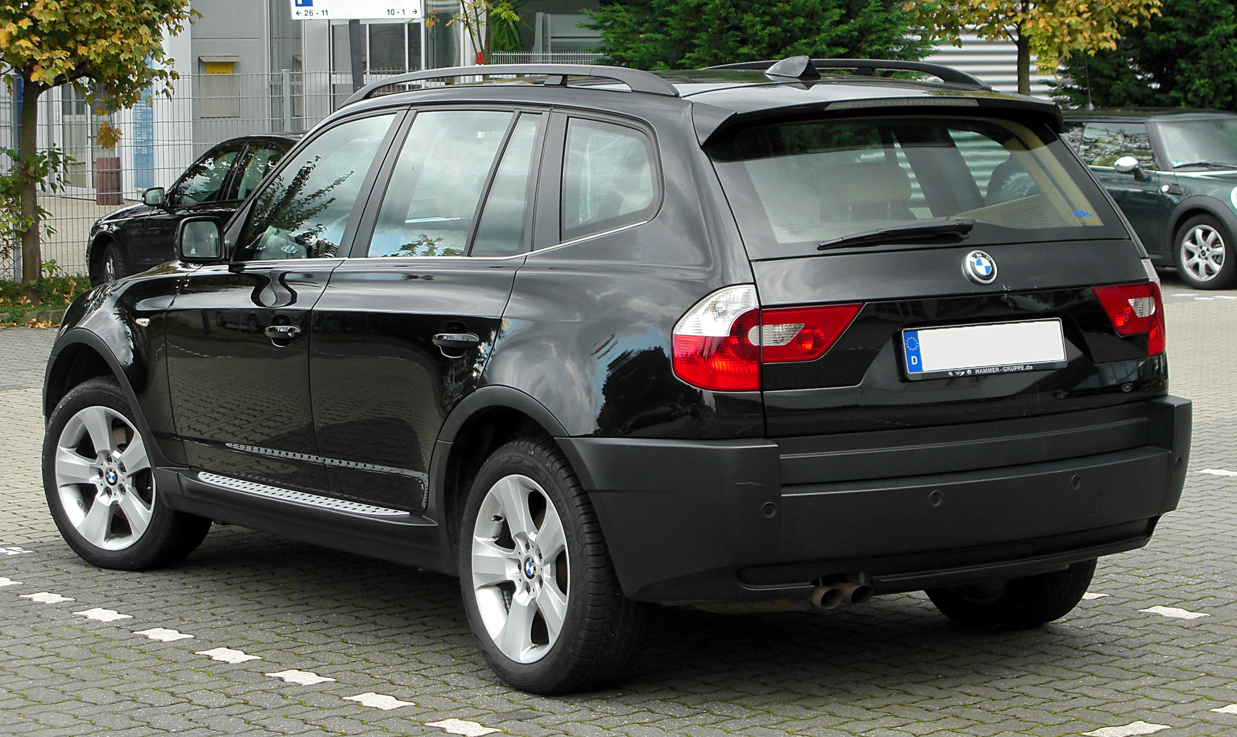 file bmw x3 e83 facelift rear wikimedia commons. Black Bedroom Furniture Sets. Home Design Ideas