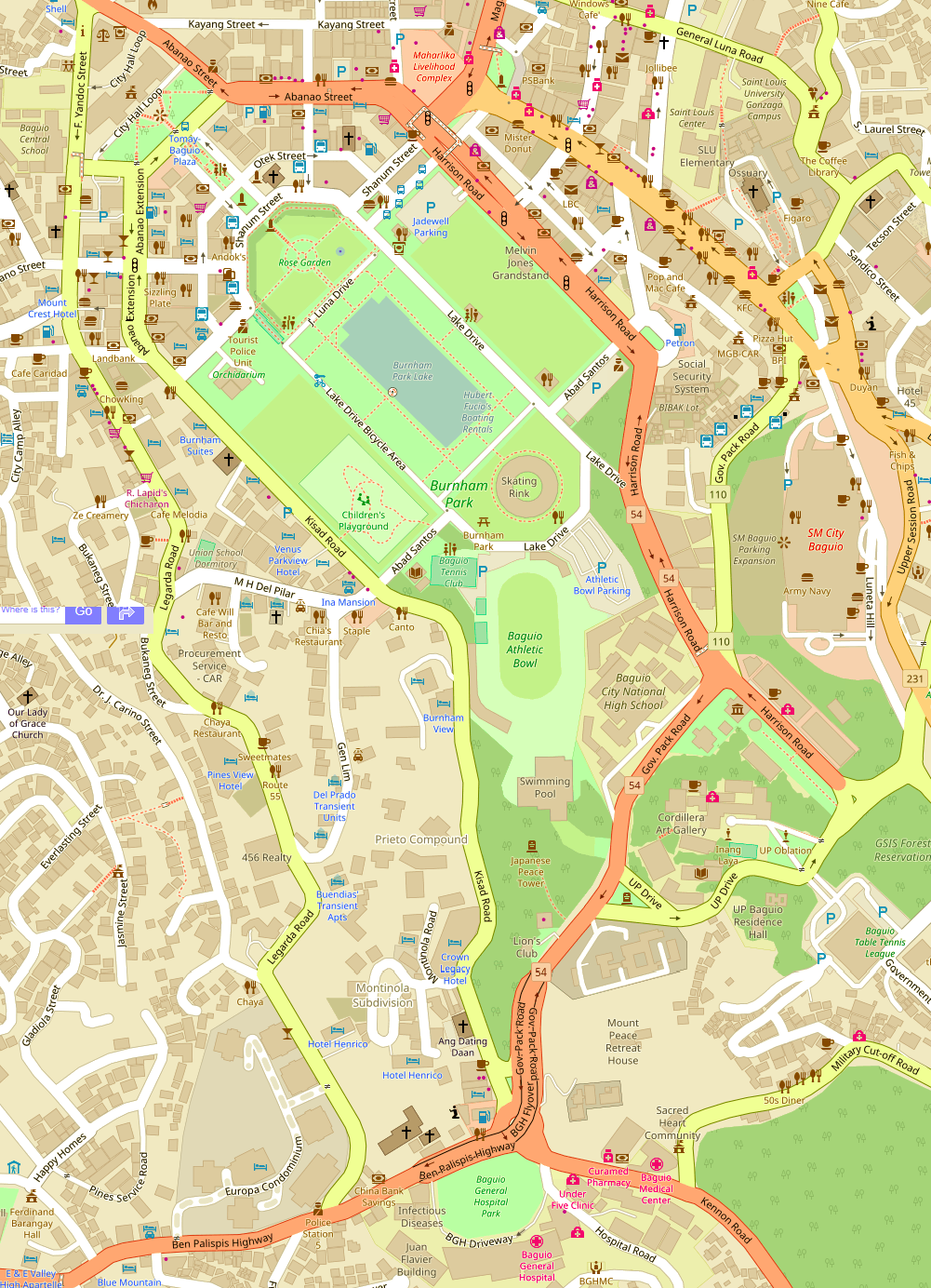 Burnham Park Map File:Baguio Burnham Park Open Street Map.png   Wikimedia Commons
