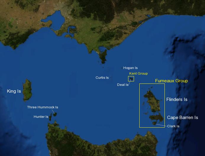 Map Of Australia King Island.Three Hummock Island Wikipedia