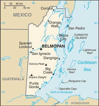 World Map Belize