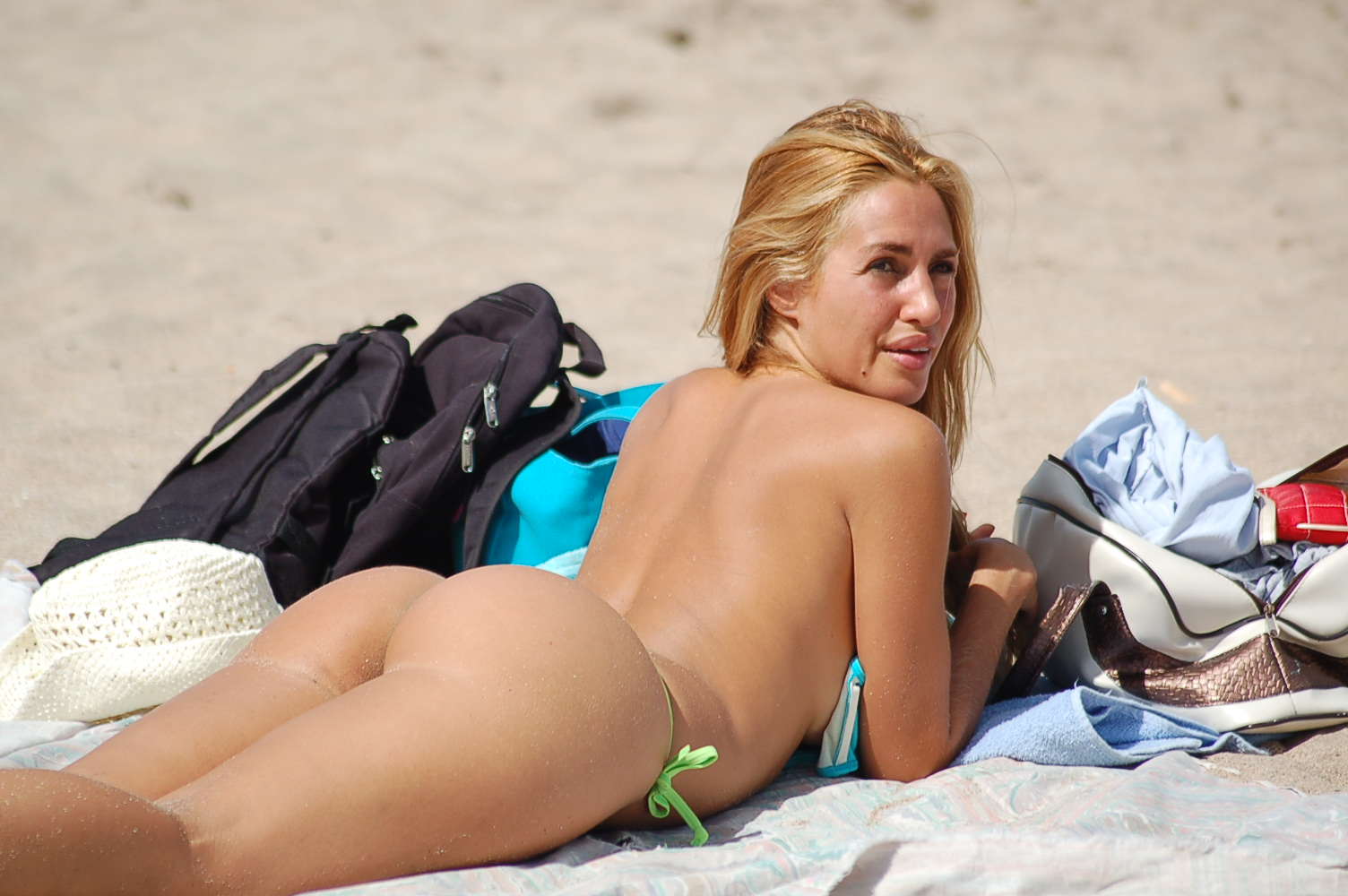 on Blonde beach nude
