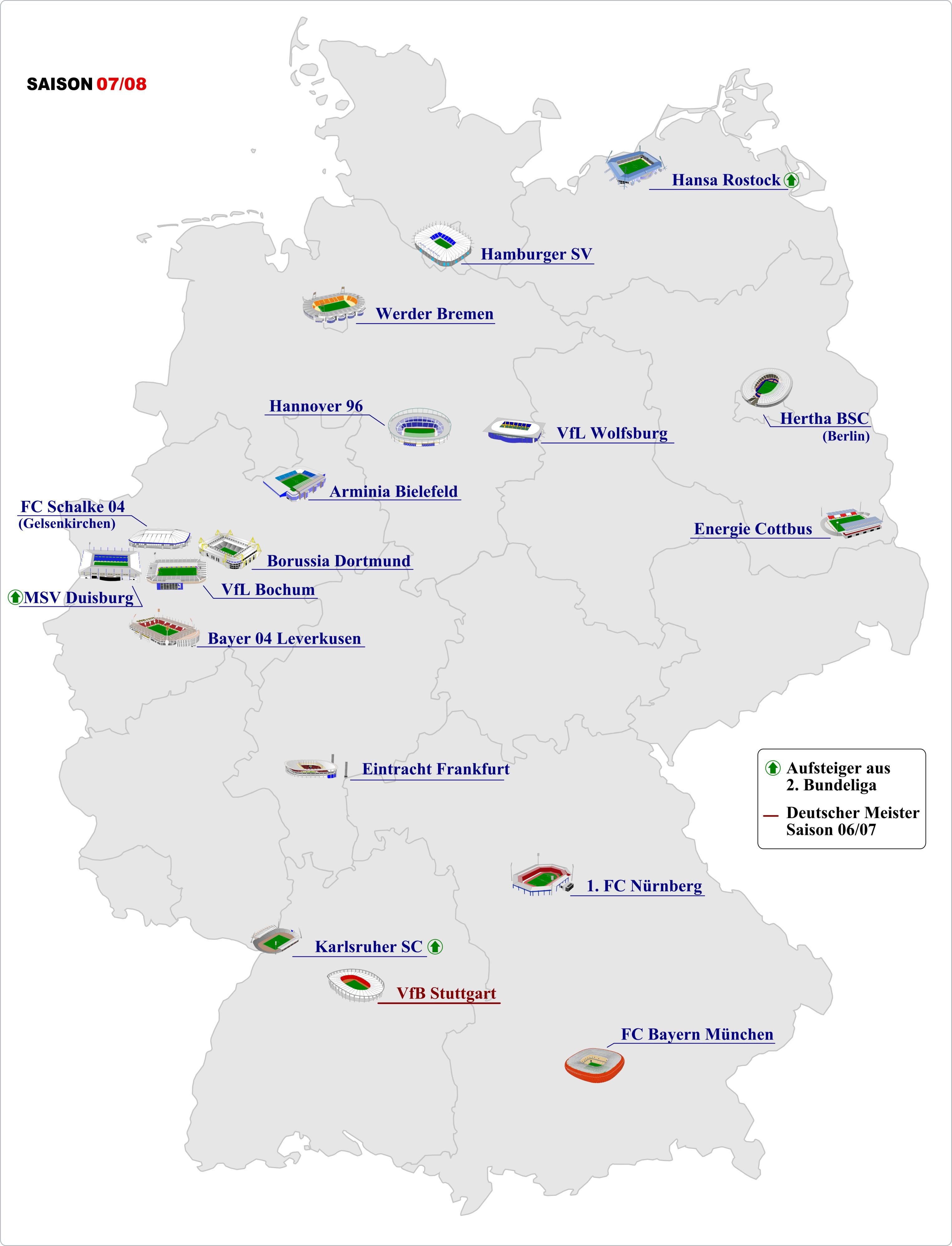 Bundesliga 2007 08 Tabelle