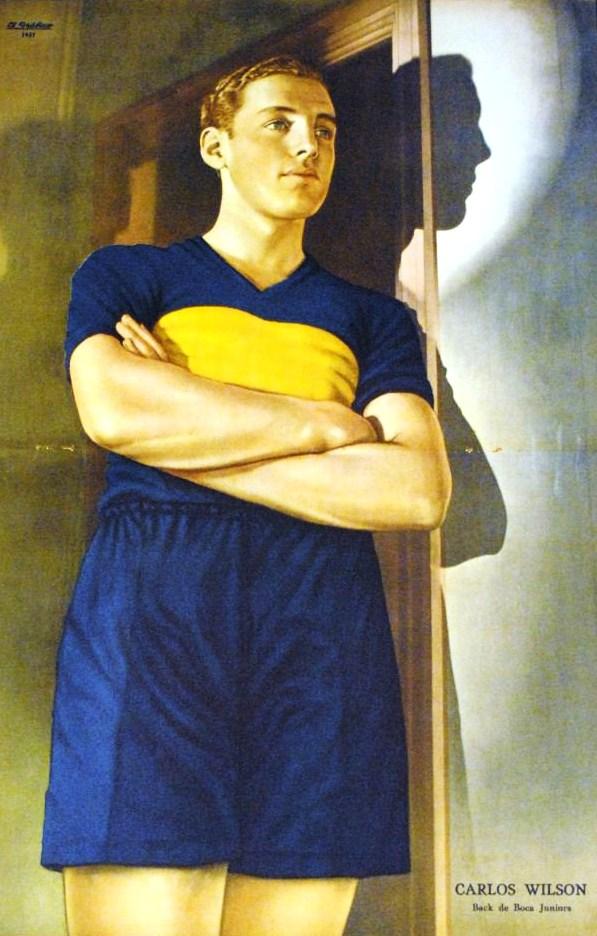 Carlos Wilson in Boca Juniors, cover of [[El Gráfico]]