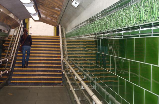 Ceramic tiles in Regents Park underground station - geograph.org.uk - 1522064
