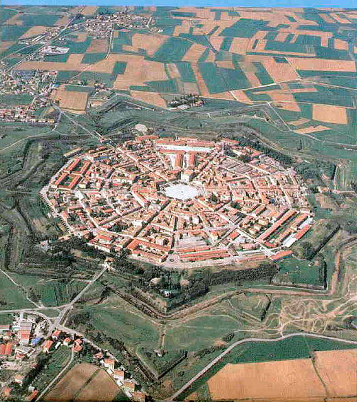 Palmanova, Italy, founded in the 16th century
