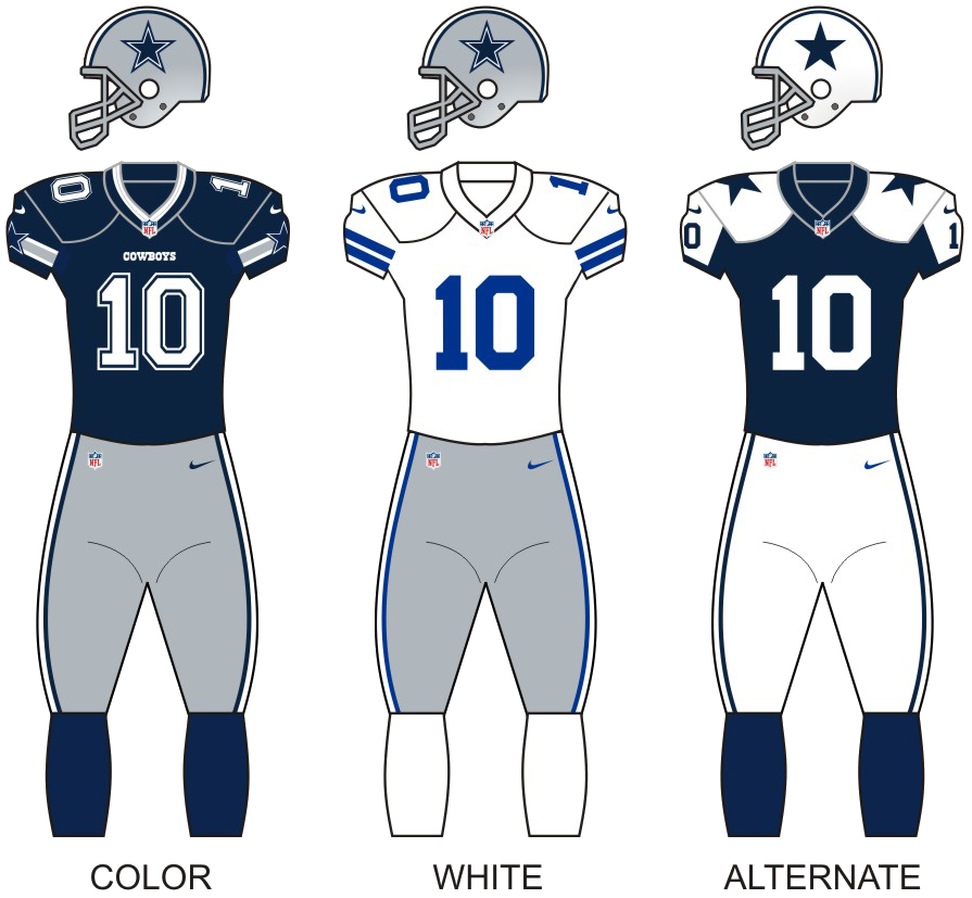 all white dallas cowboys jersey