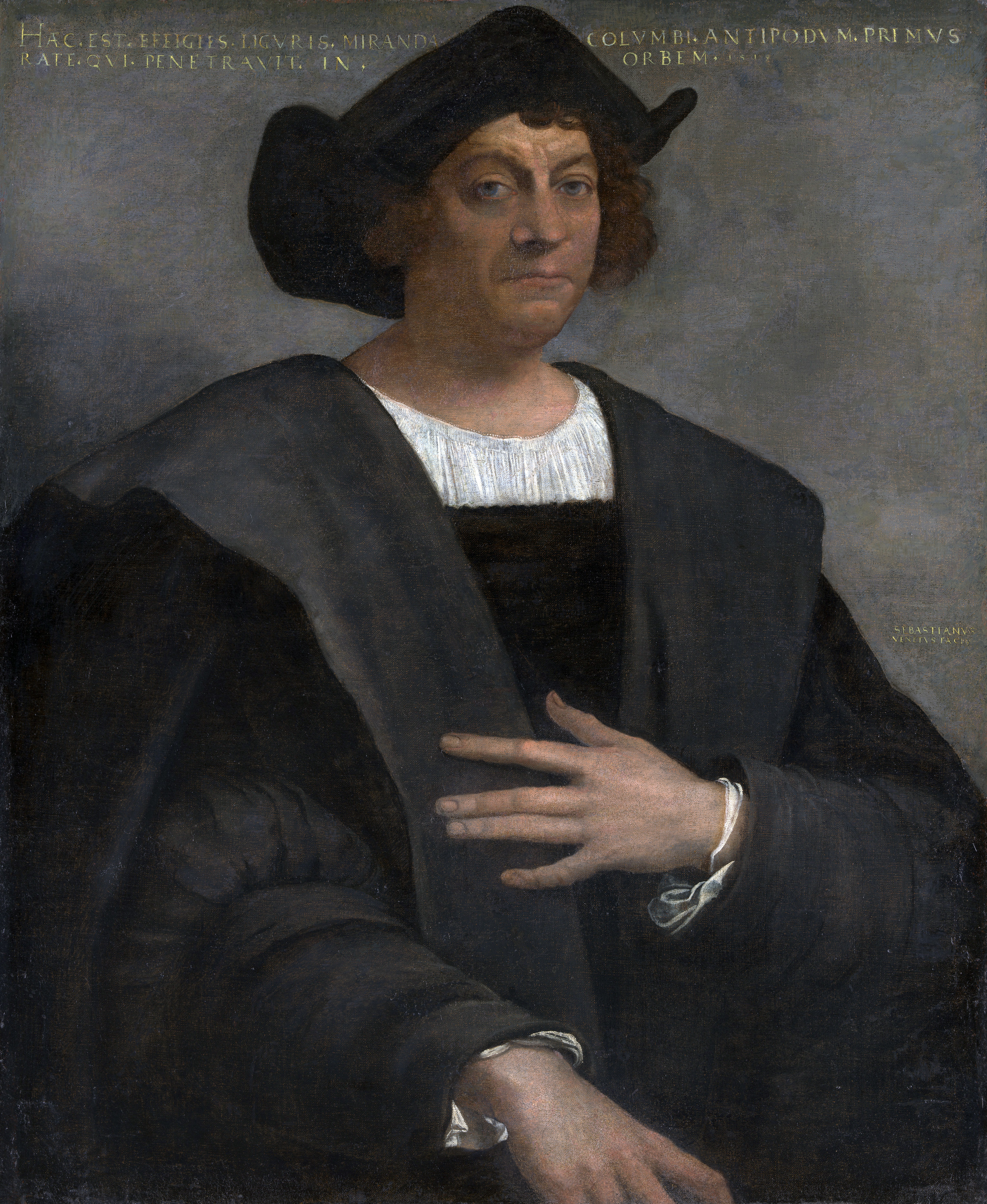 Christopher Columbus, aka Cristobal Colón; 16th-century portrait by Sebastiano del Piombo